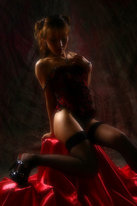 HITOMI [017 A red bustier]